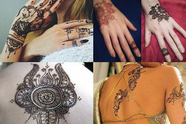 Wzory tatuaży z henny