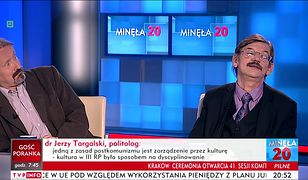 """Jerzy Targalski mówi w TVP Info o """"złogach"""" na uczelniach. Bezcenna reakcja Rafała Chwedoruka"""