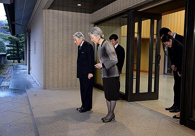 Para prezydencka na audiencji u cesarza - zdjęcia