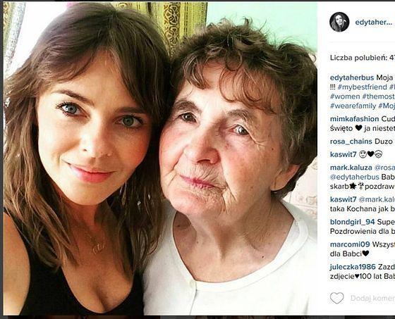 Edyta Herbuś z babcią