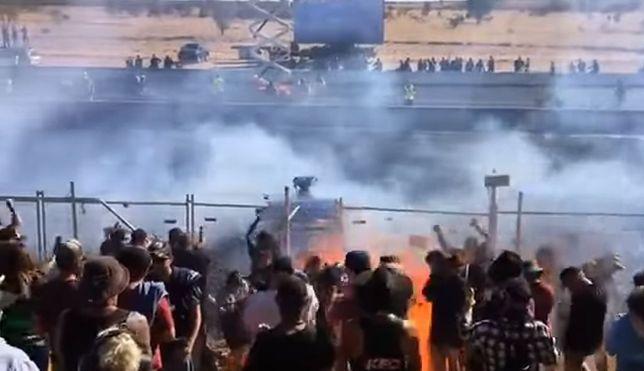 Tragedia podczas wyścigów. Widzowie zalani płonącym paliwem