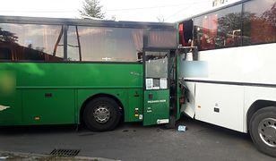 Śląskie. Do zderzenia autobusów doszło w miejscowości Panki.