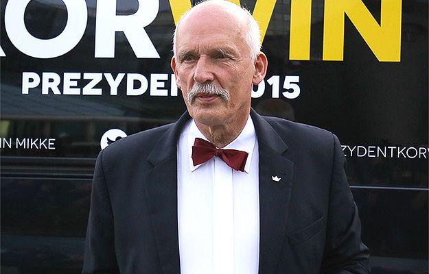 Janusz Korwin-Mikke miał wypadek na motocyklu