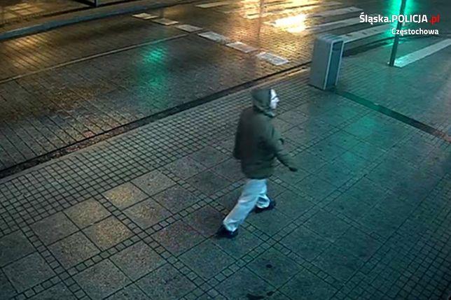 Chciał zgwałcić kobietę w Częstochowie. Policja pokazuje film