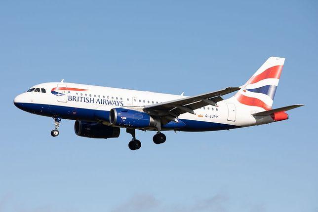 Samolot należący do linii British Airways