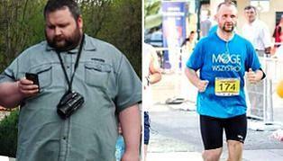 Pobił rekord w odchudzaniu. W rok zrzucil 90 kilogramów