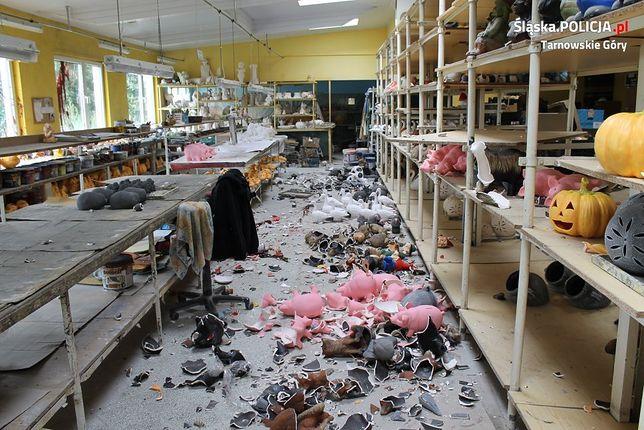 Ukrainiec zdemolował tarnogórski zakład pracy