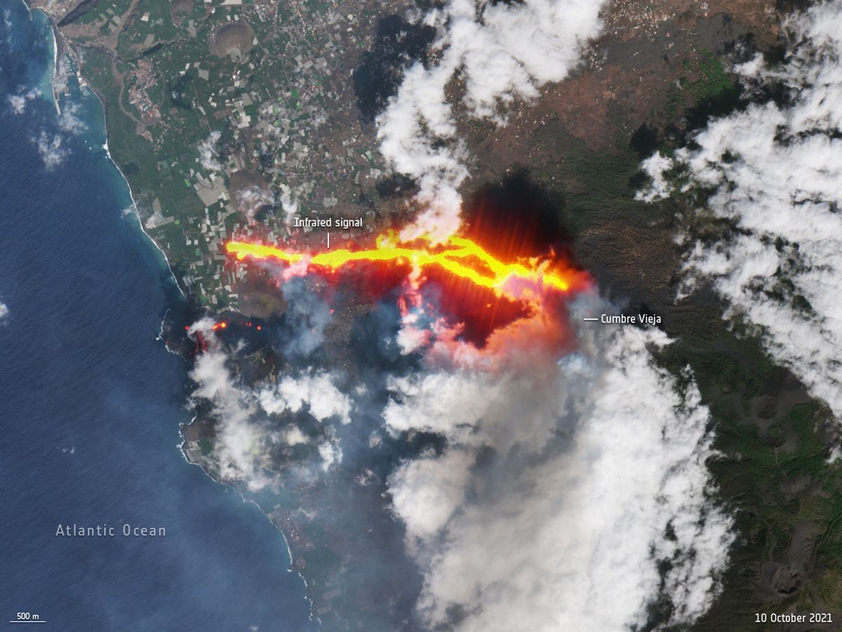 La Palma. Lawa z Cumbre Vieja zniszczyła blisko 1,5 tys. budynków