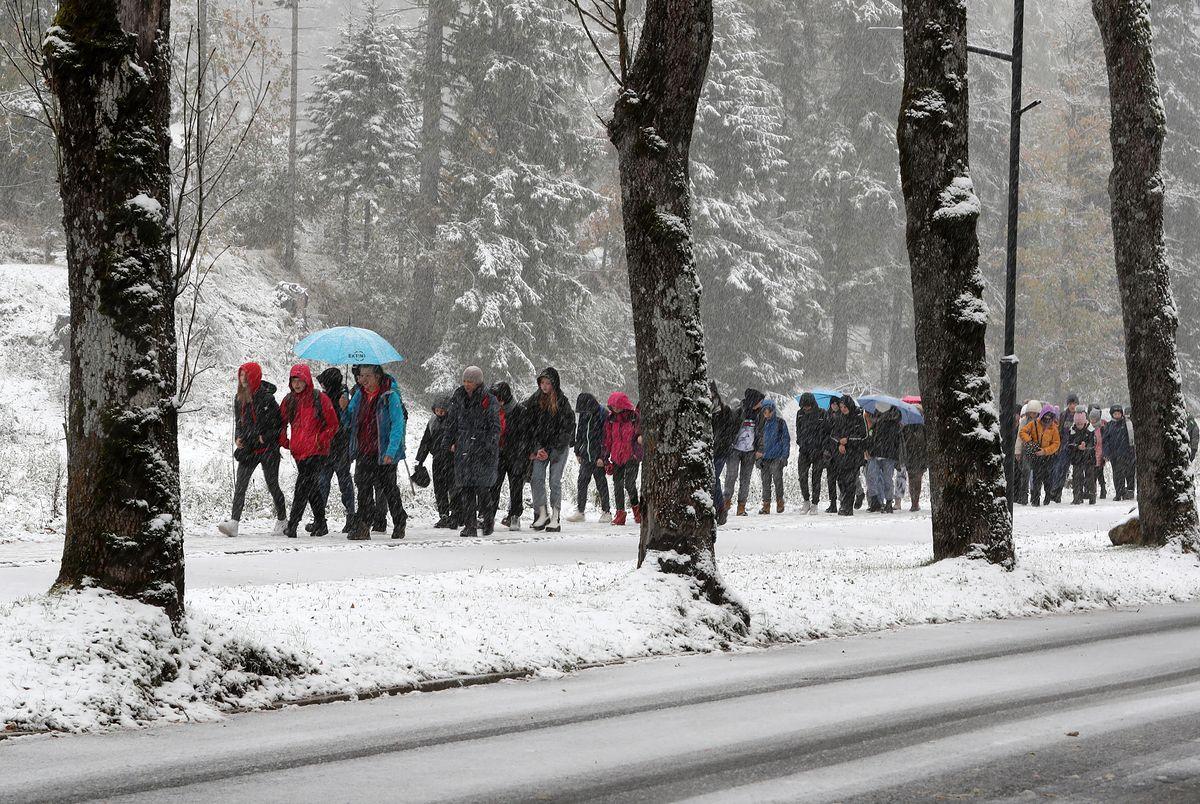 Opady śniegu w Zakopanem - zdjęcie z 13 października