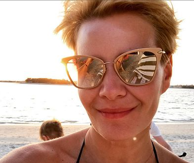 Małgorzata Kożuchowska relaksuje się na urlopie