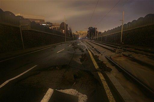 Rwące rzeki na ulicach - powódź na Kanarach