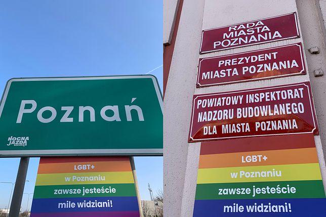 """Poznań pierwszą """"strefą LGBT""""? Tęczowe tablice zawitały w mieście"""