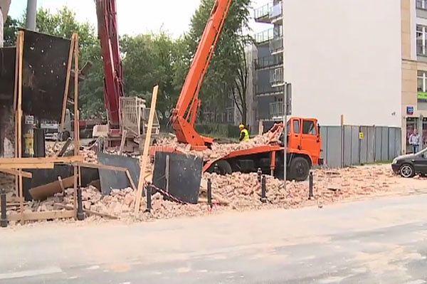 Katastrofa budowlana w Warszawie - runęła ściana