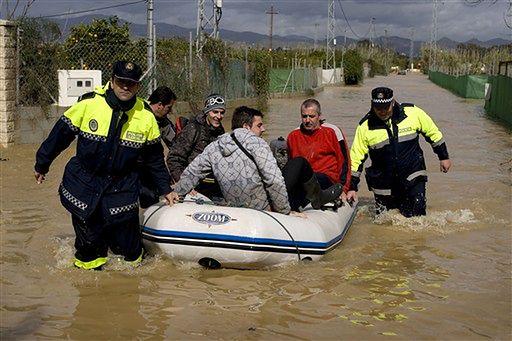 Hiszpania pod wodą