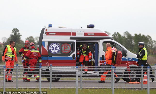 Na miejscu wypadku pracują śłużby