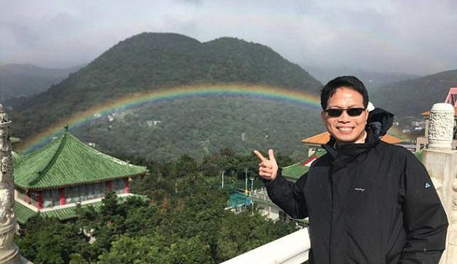 Profesor Chou uważa, że taka tęcza to prawdziwy dar niebios