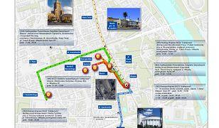 Cztery dni manifestacji w Warszawie (MAPY)