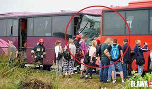 Dolny Śląsk. Poważny wypadek, zderzenie dwóch autokarów