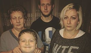 Tomasz Zoń z mamą, siostrą i siostrzeńcem. Ich rodzina jest w branży futrzarskiej od 40 lat.