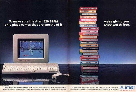 Pod koniec 1986 roku Atari posiadało już naprawdę sporą bazę oprogramowania obejmującą programy edukacyjne, rozrywkowe, biznesowe i naukowe.