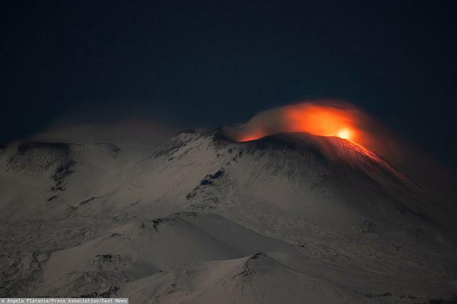 Etna wybuchła. Uwieczniono moment erupcji