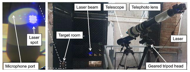 Laser musi trafić dokładnie na mikrofon MEMS, źródło: badania dot. Light Commands.