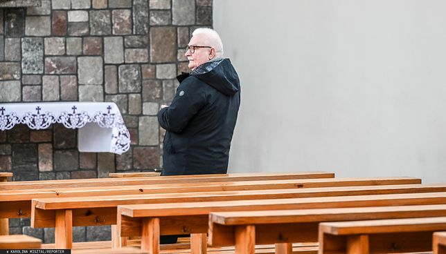 Koronawirus w Polsce. Lech Wałęsa znowu osobiście uczestniczył we mszy świętej