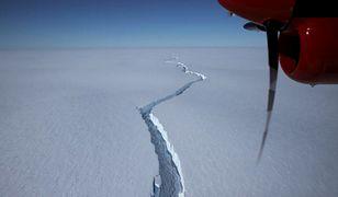 Góra lodowa oderwała się od lodowca szelfowego w pobliżu stacji Halley VI na Antarktydzie