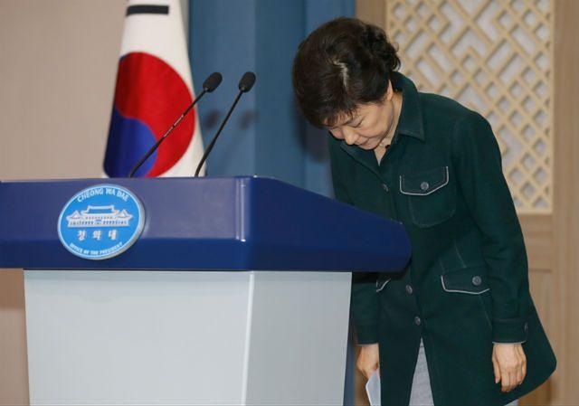 Park Geun Hie po wygłoszeniu orędzia do narodu w 2013 roku
