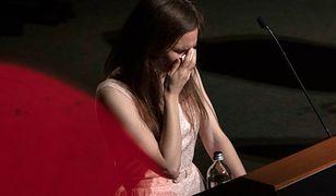 Amanda Knox popłakała się w trakcie przemówienia