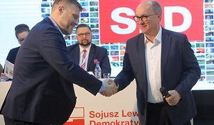 W czasie konwencji SLD wystąpił Adrian Zandberg z Razem