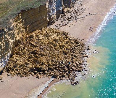 Osunięcie się klifu w Dorset
