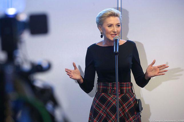 Agata Kornhauser-Duda podczas kiermaszu charytatywnego