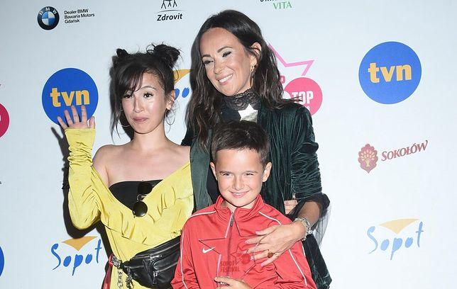 Kasia Kowalska z dziećmi w 2018 roku