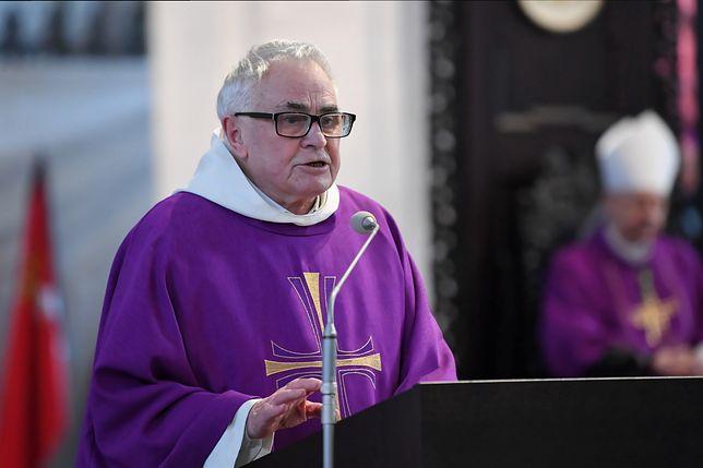 O. Ludwik Wiśniewski na uroczystości pogrzebowej prezydenta Gdańska Pawła Adamowicza