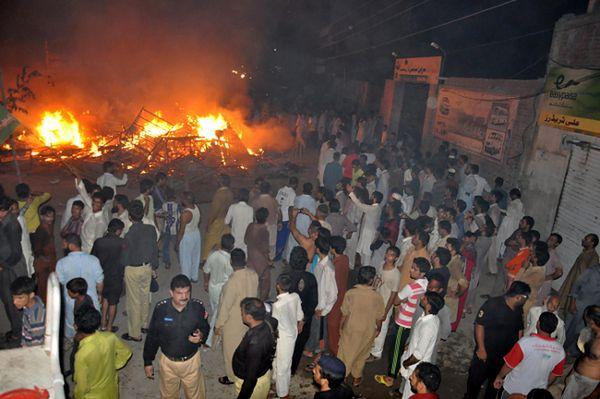 Pożar w  Gujranwali