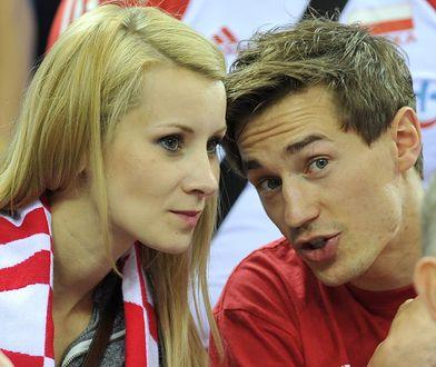 Kamil Stoch wraz ze swoją żoną Ewą Bilan