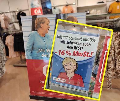 Angela Merkel twarzą wyprzedaży w Niemczech. Sklepy wykorzystują obniżkę VAT
