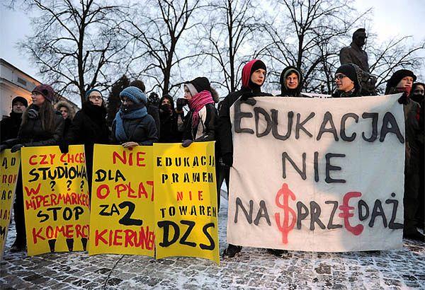 Protest studentów przeciw reformie nauki i szkolnictwa wyższego, 17 lutego 2011 roku
