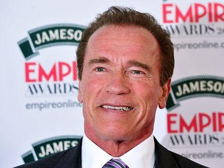 Arnold Schwarzenegger lubi leżakować