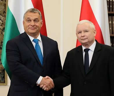 Viktor Orban i Jarosław Kaczyński podczas spotkania w Warszawie
