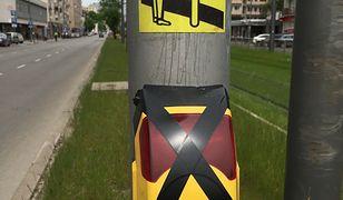 Przycisk do wywołania światła zielonego dla pieszych