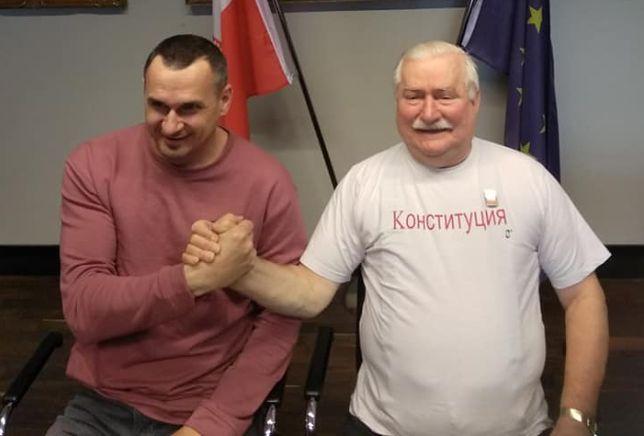 Lech Wałęsa spotkał się z Olehem Sencowem