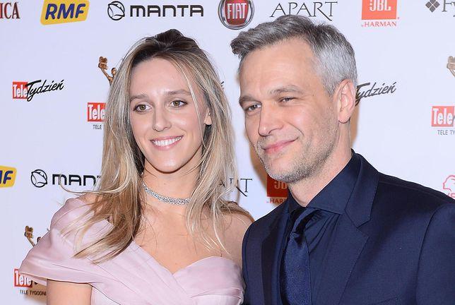 Michał Żebrowski i jego żona Aleksandra Żebrowska w 2018 roku
