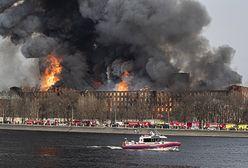 Rosja. Gigantyczny pożar zabytkowej manufaktury. Są ofiary. Trwa ewakuacja mieszkańców