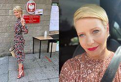 Małgorzata Kożuchowska pokazała zdjęcie z głosowania. Ale się wystroiła!