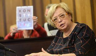 """Sąd Najwyższy zajmie się statusem sędziów """"nowych izb"""" (na zdjęciu I prezes SN prof. Małgorzata Gersdorf)"""