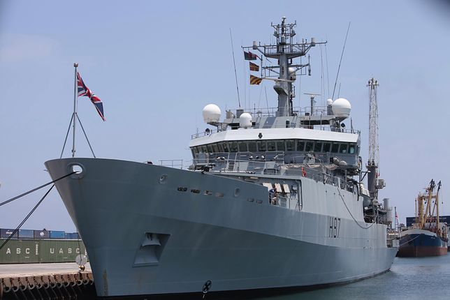 """Zdaniem komentatorów wysłanie fregaty może być reakcją Rosji na obecność w Odessie brytyjskiego """"wywiadowcy"""" HMS Echo (na zdjęciu)"""