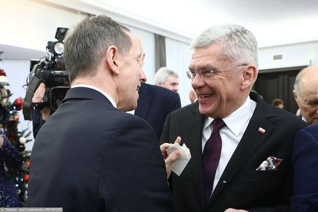 Burza wokół ustawy o sądach. Stanisław Karczewski komentuje nocne prace