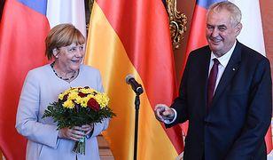 Kanclerz Niemiec z prezydentem Czech w Pradze w sierpniu 2016 r.